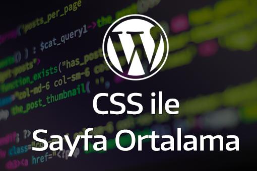 Css ile Sayfayı Ortalama