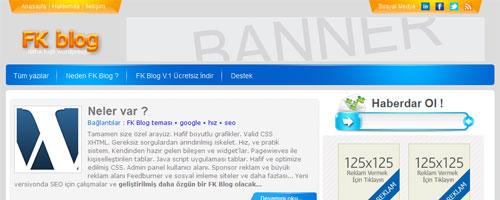 FK Blog – Kişisel Blog Teması ( Türkçe )