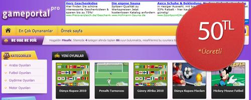 WordPress Oyun Portalı Teması