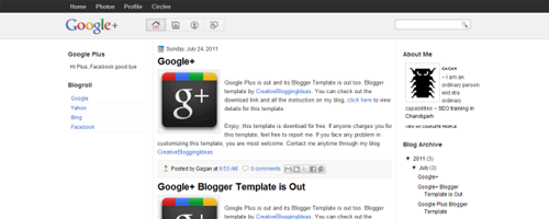 Google Plus WordPress Teması