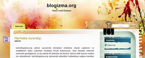 WaterColor Kişisel Blog Teması
