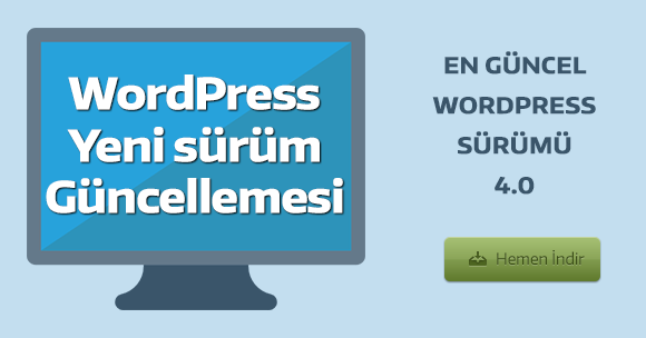WordPress 4.0 yayımlandı indir!