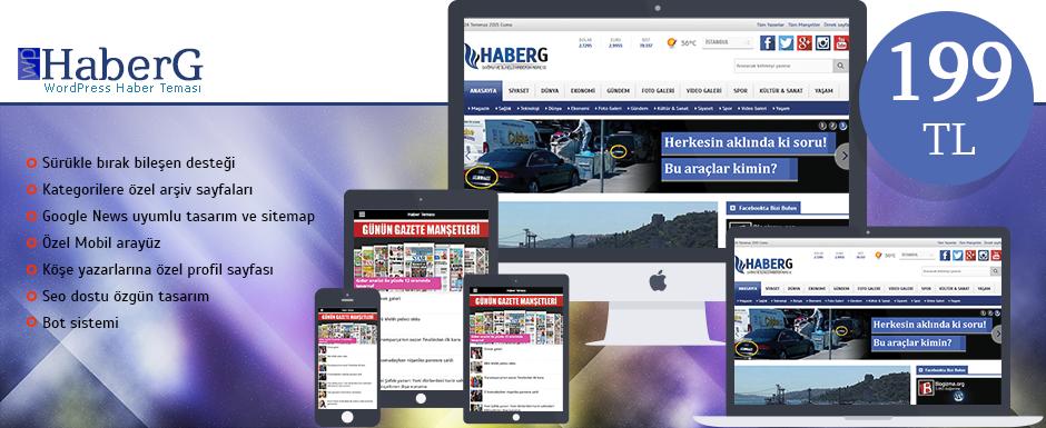 WordPress Haber Teması HaberG
