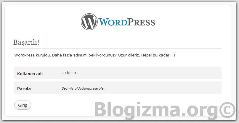 Wordpress Kurulumu Resimli Anlatım Görsel