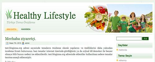 Sağlık ve Diyet Sitesi Teması