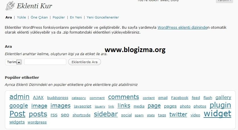 Wordpress Plugin Kurulumu
